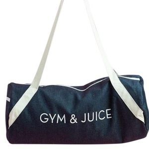 NWOT - Private Party Gym & Juice Demin gym bag